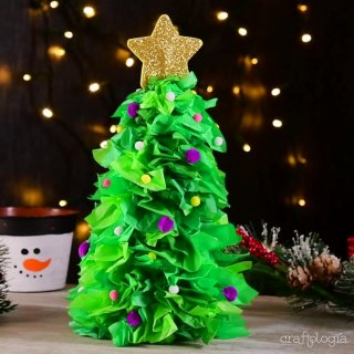 Árbol Navideño de Papel de China