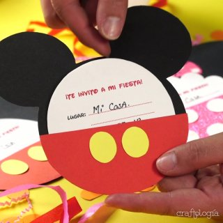 Invitaciones de Mickey y Minnie Mouse